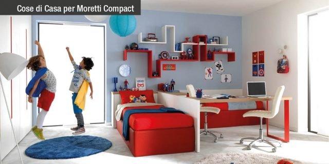 Cameretta: vivace e ordinata, con spazi ben progettati per giocare, studiare, dormire