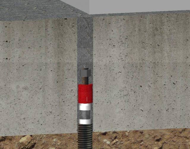 Intervento Lift Pile® di Novatek (cementazione).