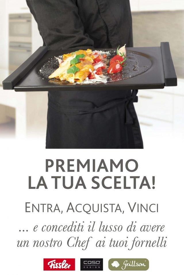 """La locandina del concorso """"Uno Chef a Casa Tua"""" di Punto De."""
