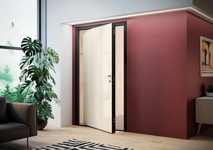 Porta blindata bilico di big laccato perlato cose di casa - Apertura porta blindata ...
