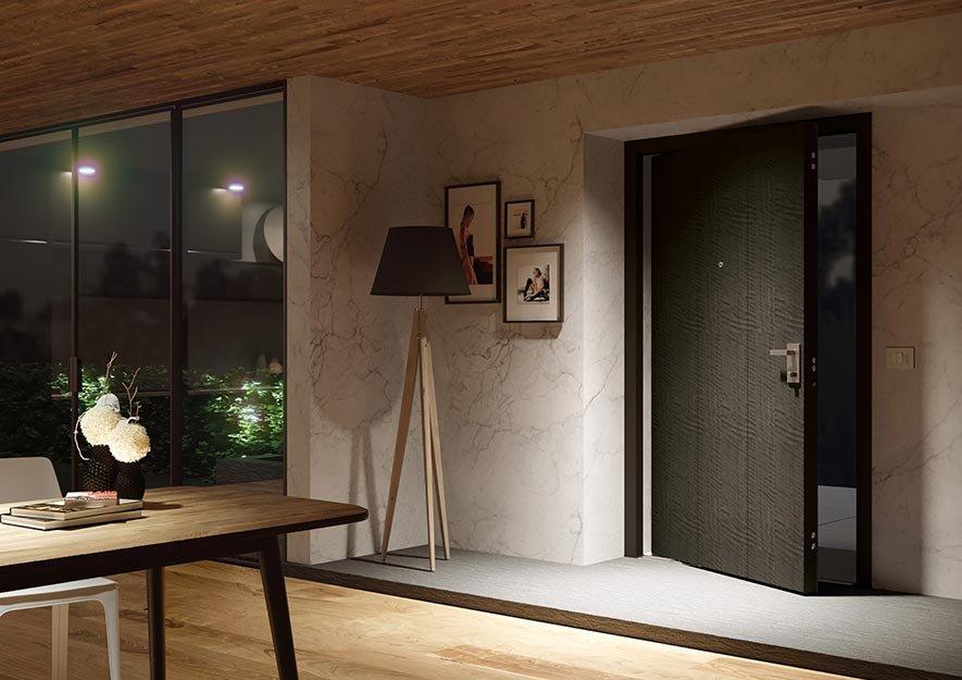 Porta blindata bilico di big legno nero lavorato cose di - Apertura porta blindata ...