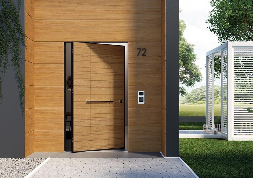 Di big la porta blindata con apertura a bilico che - Porta blindata esterno ...