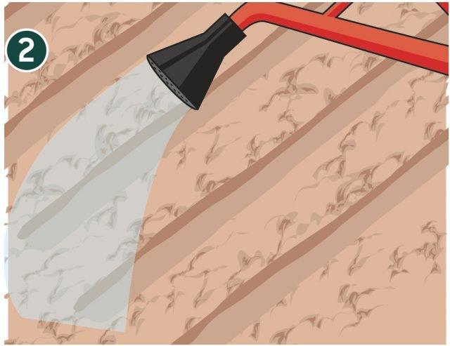 2. Terminata la semina annaffiare facendo attenzione a distribuire l'acqua con un getto nebulizzato. Le gocce grosse, infatti, farebbero spostare il seme. Prestare attenzione perché la germinazione del seme dipende, in gran parte della presenza dell'acqua, il terreno non deve asciugare completamente.