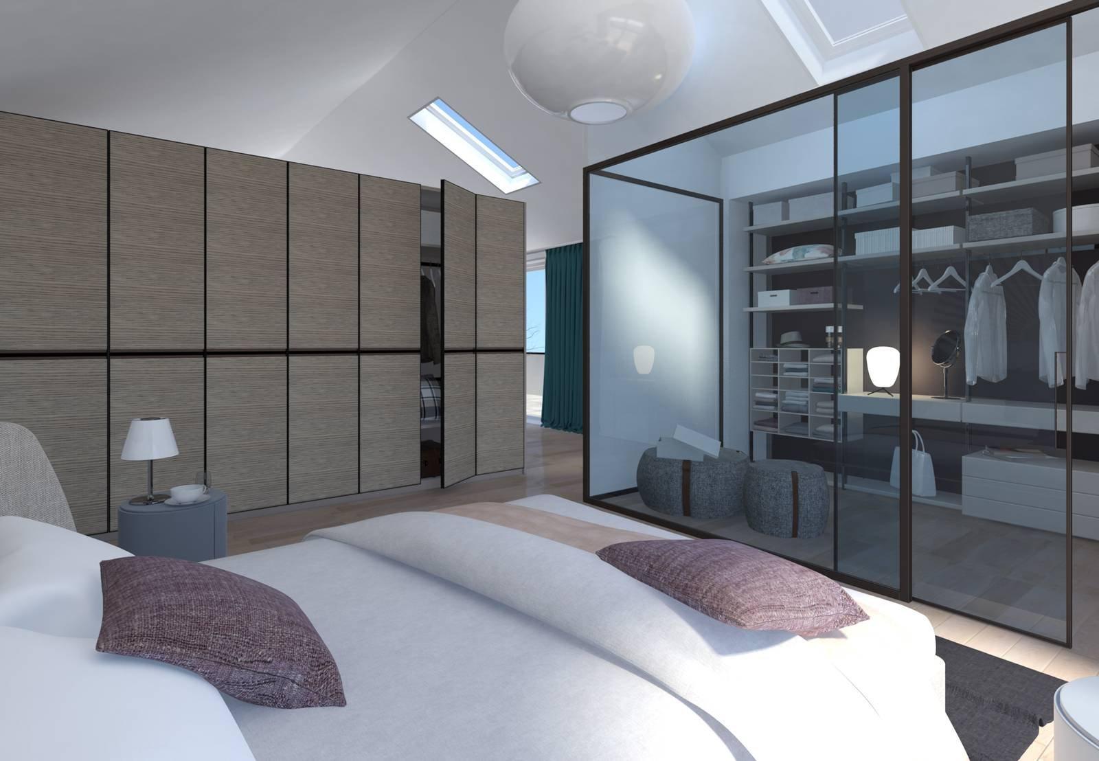 Progetto in 3d dividere con l 39 armadio soggiorno e camera for Piani cabina di una camera da letto