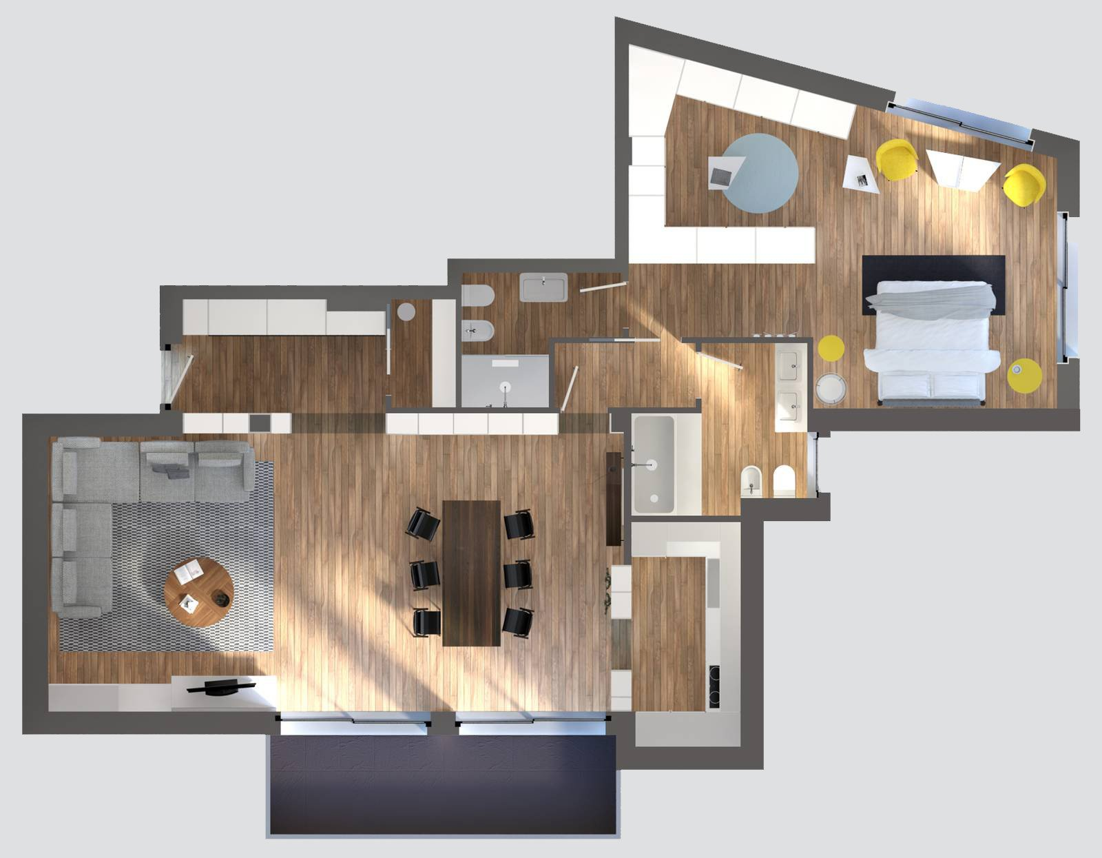 Spazi difficili un progetto per risolverli al meglio con for Soluzioni arredo casa