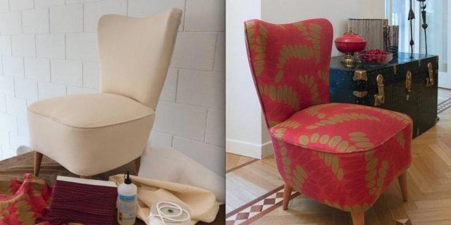 Rivestire una poltrona come si fa e quali tessuti - Tappezzare sedia costo ...