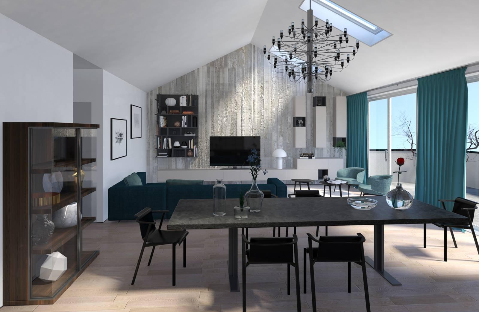 Progetto in 3d dividere con l 39 armadio soggiorno e camera for Armadio soggiorno