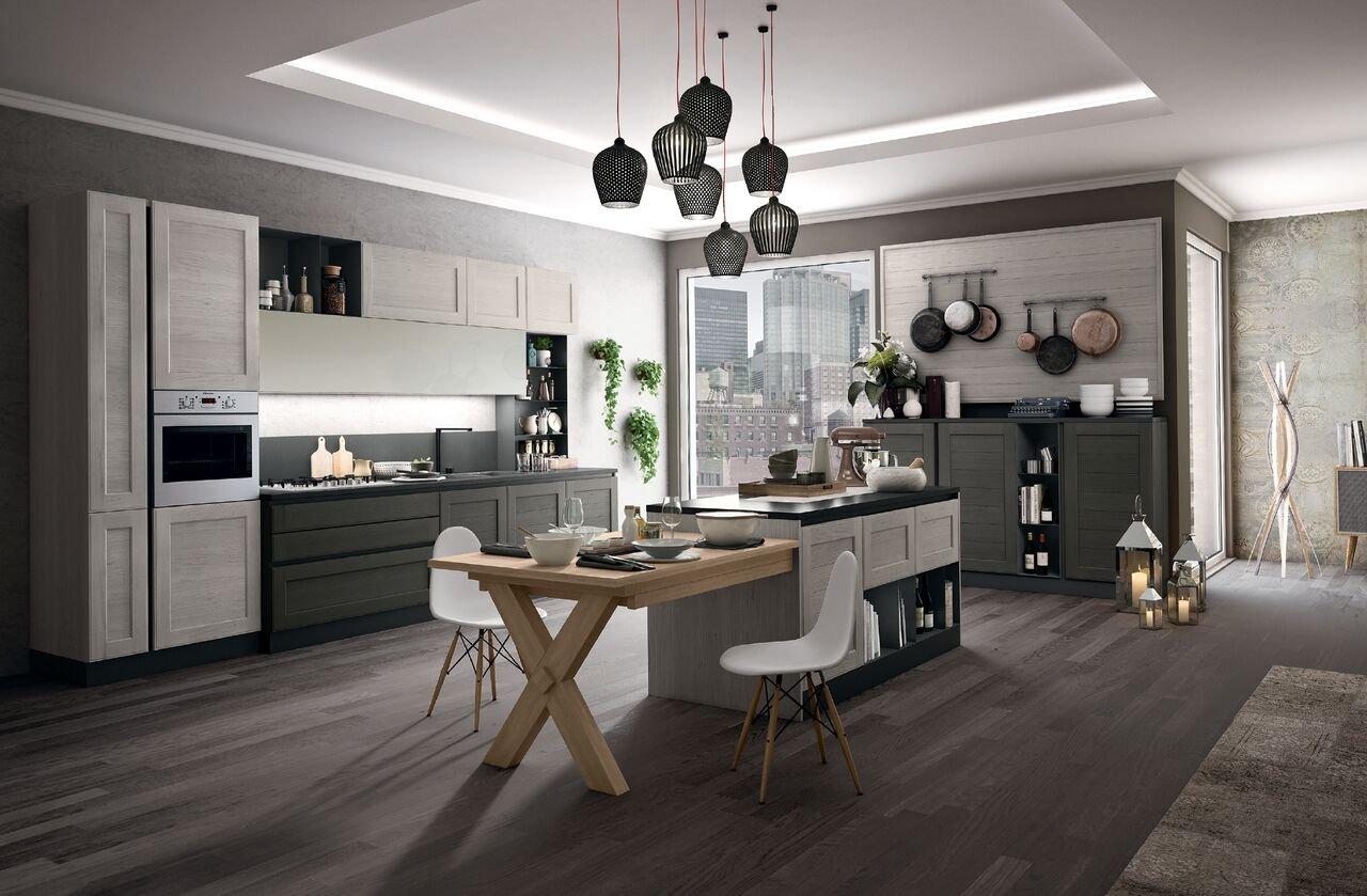 Cucina con l 39 isola in genere divise in due blocchi cose - Isola cucina con tavolo ...