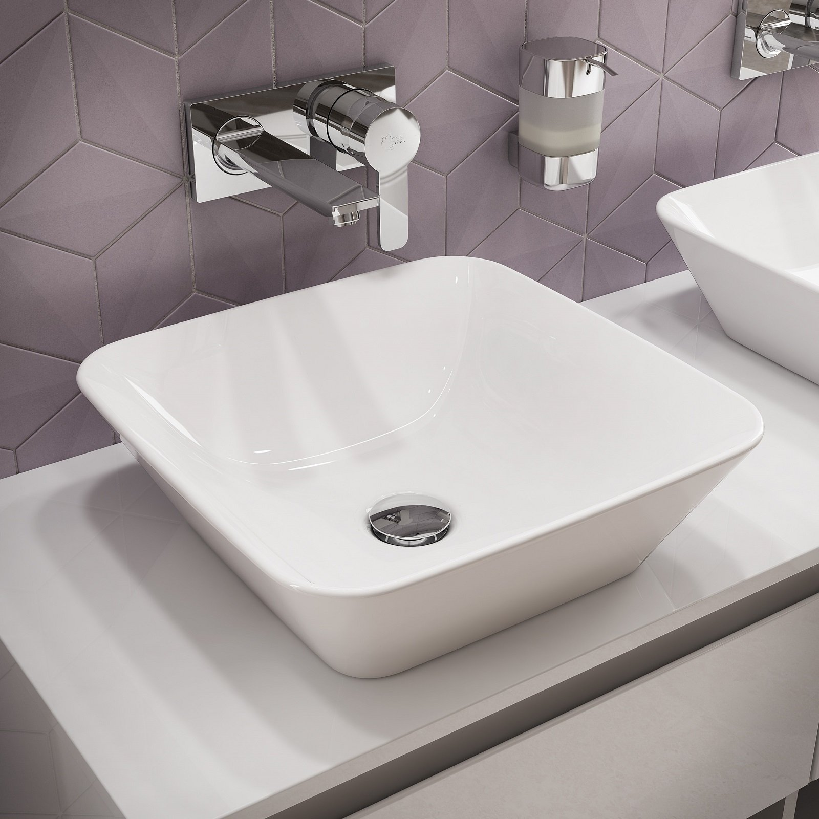 Fanno tendenza i moderni lavabi d appoggio che donano leggerezza all ambiente bagno sia di stile for Rubinetti bagno ideal standard