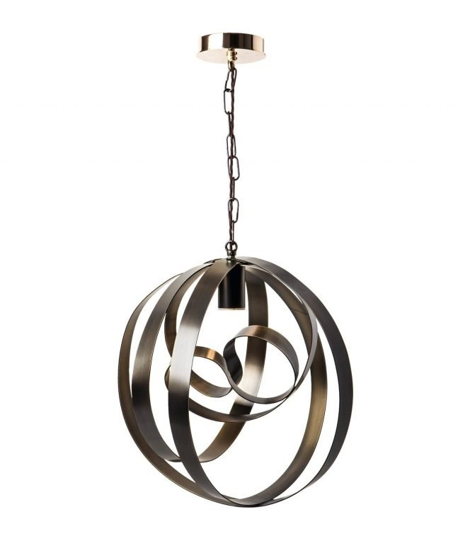 Rodin di Cantori è la nuova lampada a sospensione formata da una serie di cerchi concentrici realizzati in ferro pieno curvato e saldato, in una ricercata finitura in bronzo spazzolato. É  completamente realizzata a mano. Misura ø 47 x H 55/115 cm. www.cantori.it