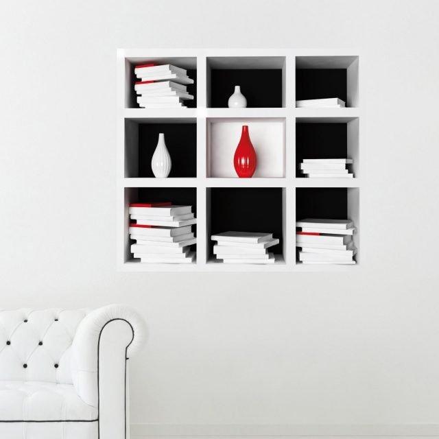 3D Cube Book Self di Adesiviamoè un adesivo tridimensionale vinilico da parete. Il 3D crea l'effetto libreria, sulla parete vuota arredandola. Oltre alla parete può essere posizionato su qualsiasi superficie liscia: ante di mobili o piastrelle. Tre le misure; prezzo di quellodaL 78 x H 70 cm 24,90 euro. www.adesiviamo.it