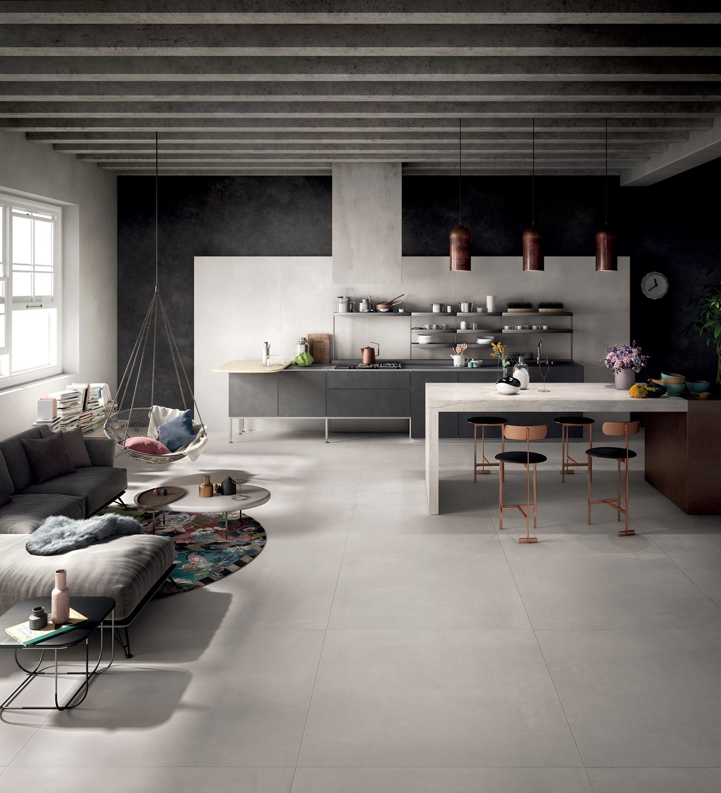 Pavimento In Cemento Prezzi i pavimenti in gres porcellanato con effetto cemento hanno