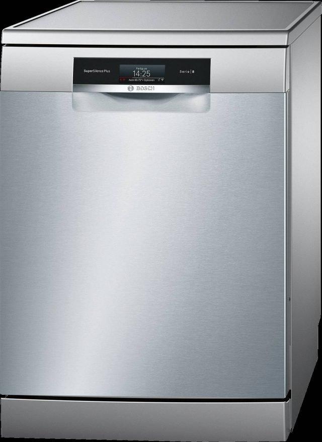 La lavastoviglie della Serie 8 mod. SMS88TI16E di Bosch consuma 9,5 litri di acqua a ciclo. Il sistema di asciugatura funziona con Zeolite®, un minerale naturale che assorbe l'umidità e la trasforma in calore, facendo ottenere un notevole risparmio energetico. In classe energetica A +++, è per 14 coperti. Misura L60xP60xH84,5 cm. Prezzo 1.149 euro. www.bosch.it