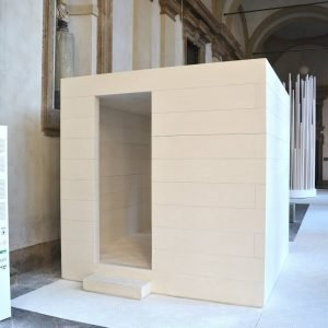 L'installazione di David Chipperfield per la mostra White in the City organizzata da Oikos al Museo di Brera.