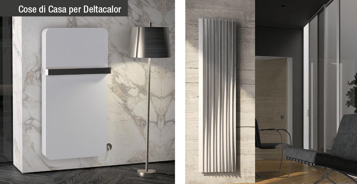 Deltacalor presenta in anteprima i nuovi radiatori valet e harp cose di casa - Scaldasalviette per cucina ...