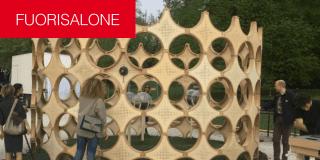 INHABITS: moduli abitativi sostenibili al Parco Sempione per il Fuorisalone. Foto in diretta