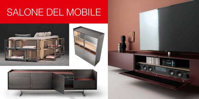 Salone del Mobile 2017: contenitori e librerie per il soggiorno