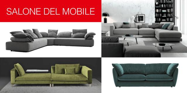 Salone del Mobile 2017: divani e divanetti