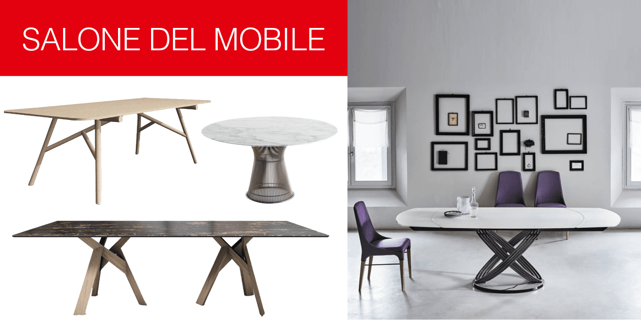 I tavoli al salone del mobile 2017 cose di casa for Rho fiera salone del mobile