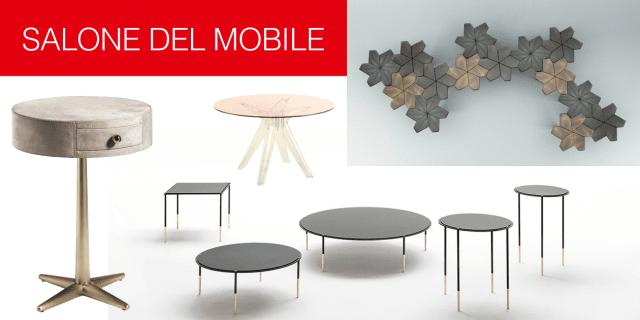 Tavolini al Salone del Mobile 2017: single, in coppia o in gruppo…