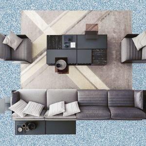 Composizione di divani Bag