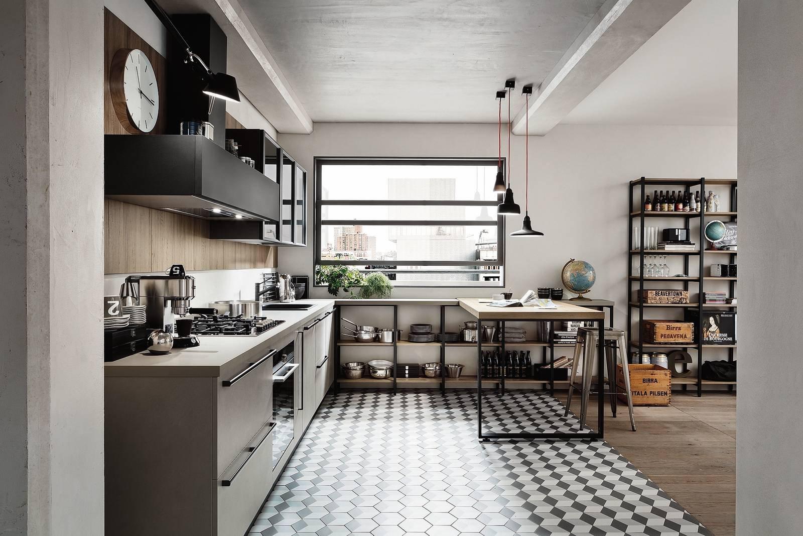 Cucine dal carattere deciso per atmosfere industrial style - Cucine urban style ...
