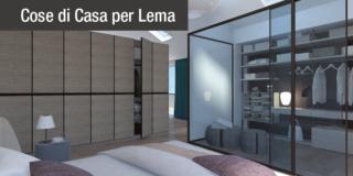 Progetto in 3D: dividere con l'armadio soggiorno e camera