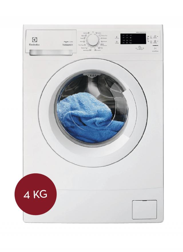 La funzione TimeManager® permette di sceglieredi volta in volta la durata del programma.Si adatta agli spazi più piccoli la lavatrice RWM 1044 EDW di Electrolux con cicli speciali tra cui quelli peri jeans, le tende e i piumini.