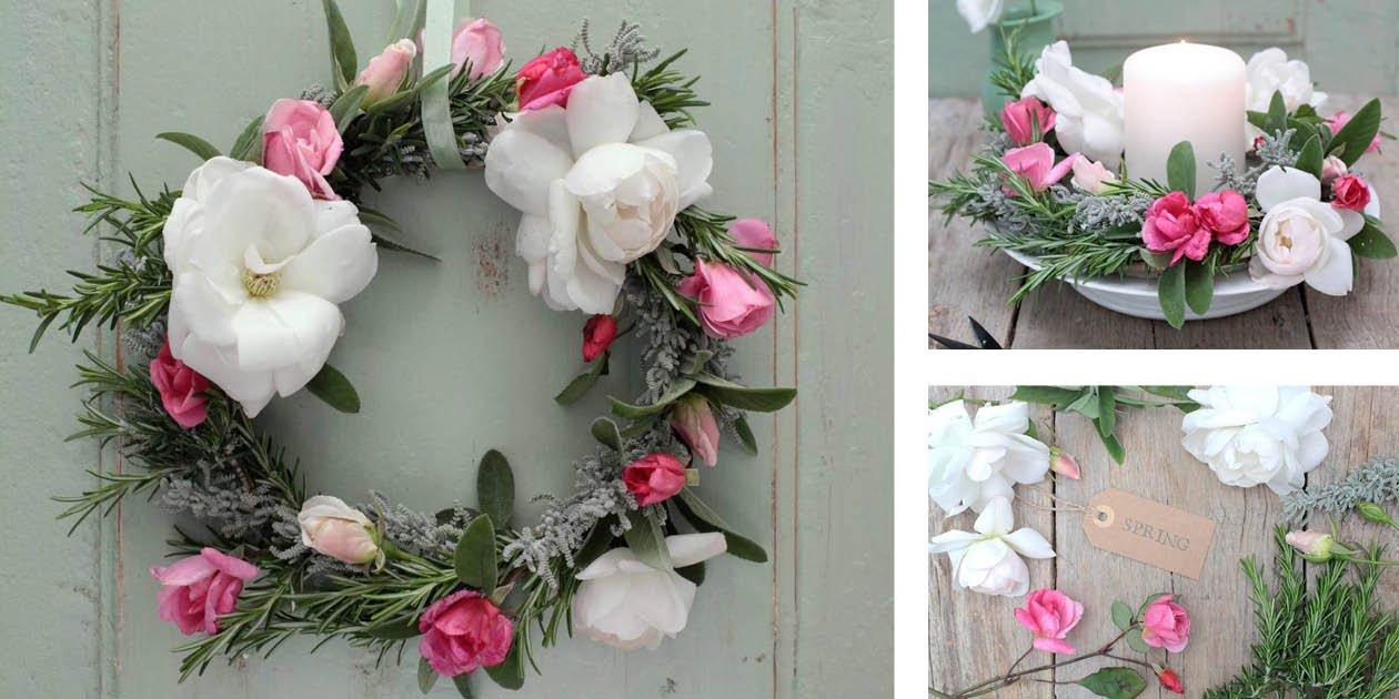 decorazione floreale per la festa della mamma la