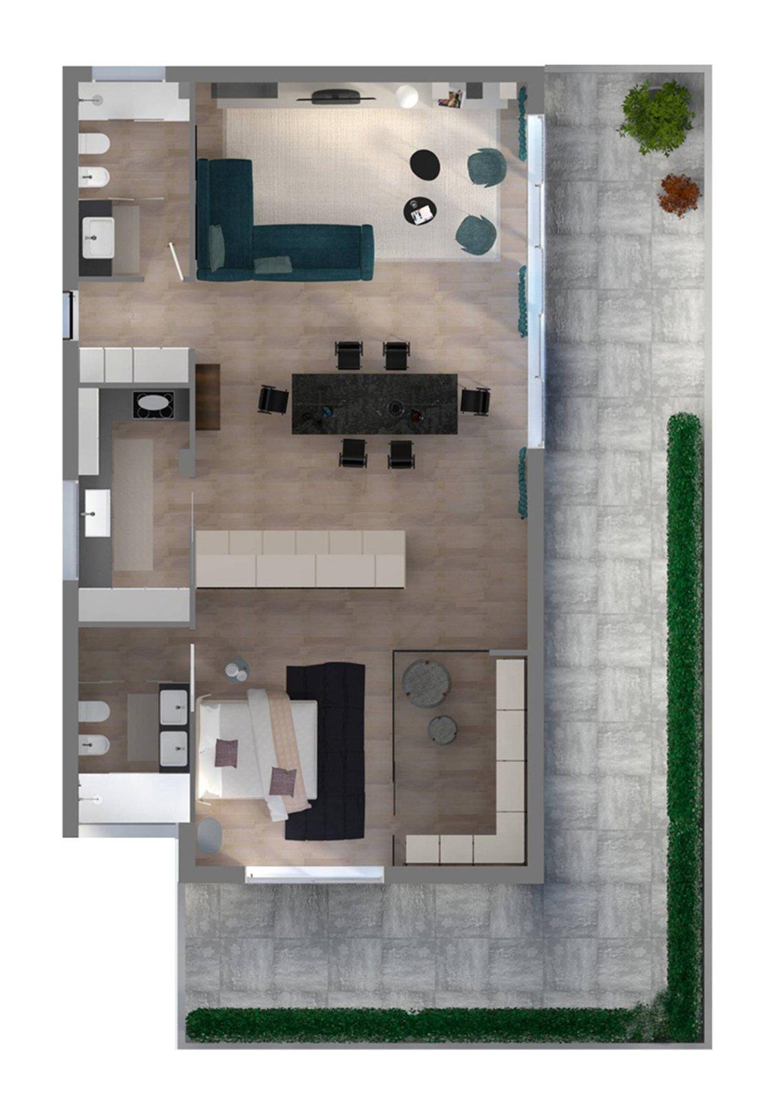 Progetto in 3d dividere con l 39 armadio soggiorno e camera for Piante di case moderne