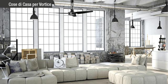 Ventilatori da soffitto reversibili: design e tecnologia Vortice