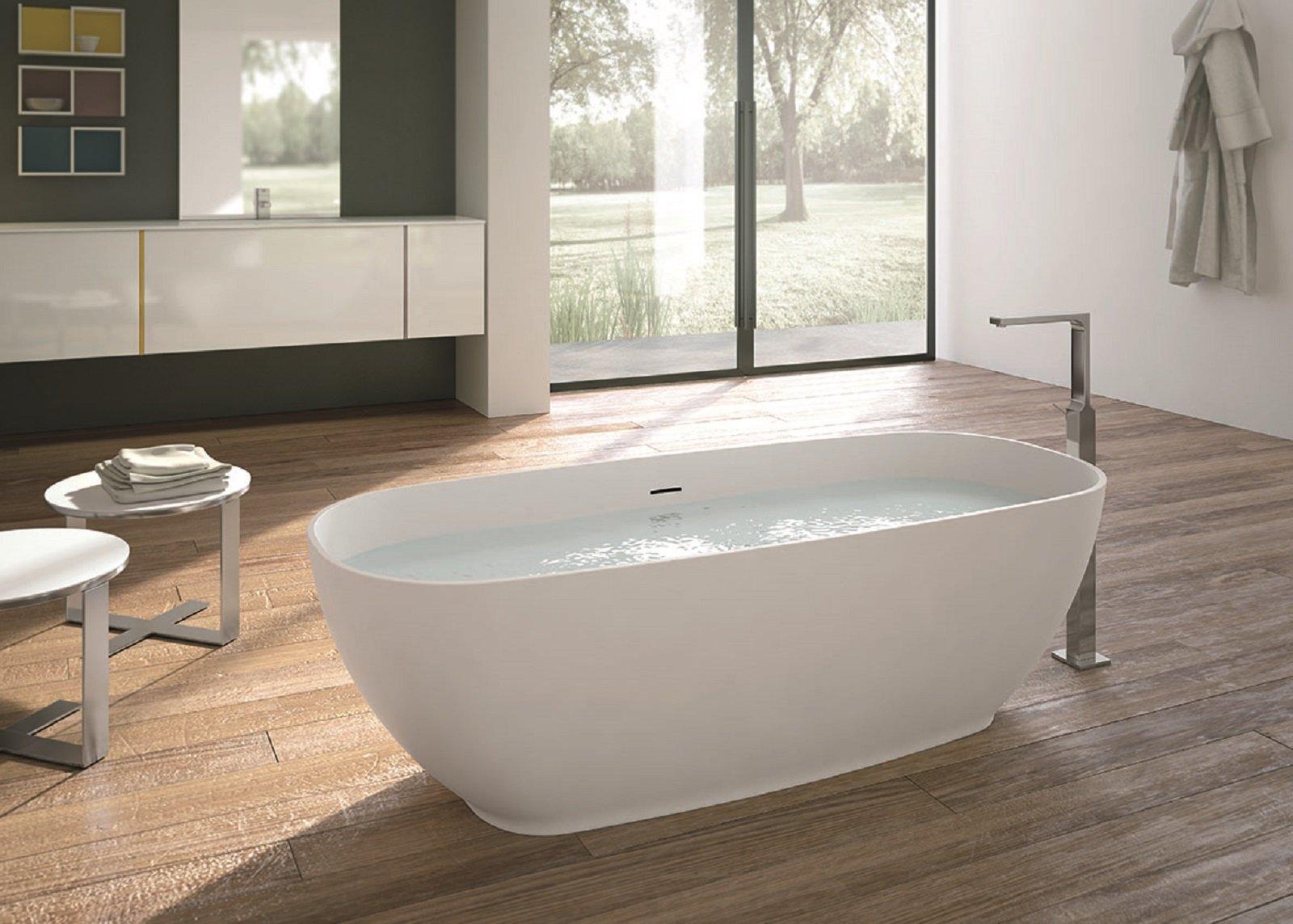 Vasca Da Bagno 180 100 : Molto scenografiche e dimpatto le vasche a libera installazione