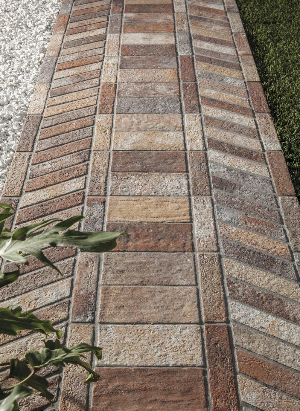 Mattoni per pavimento esterno pavimenti per giardino - Piastrelle decorative per esterni ...
