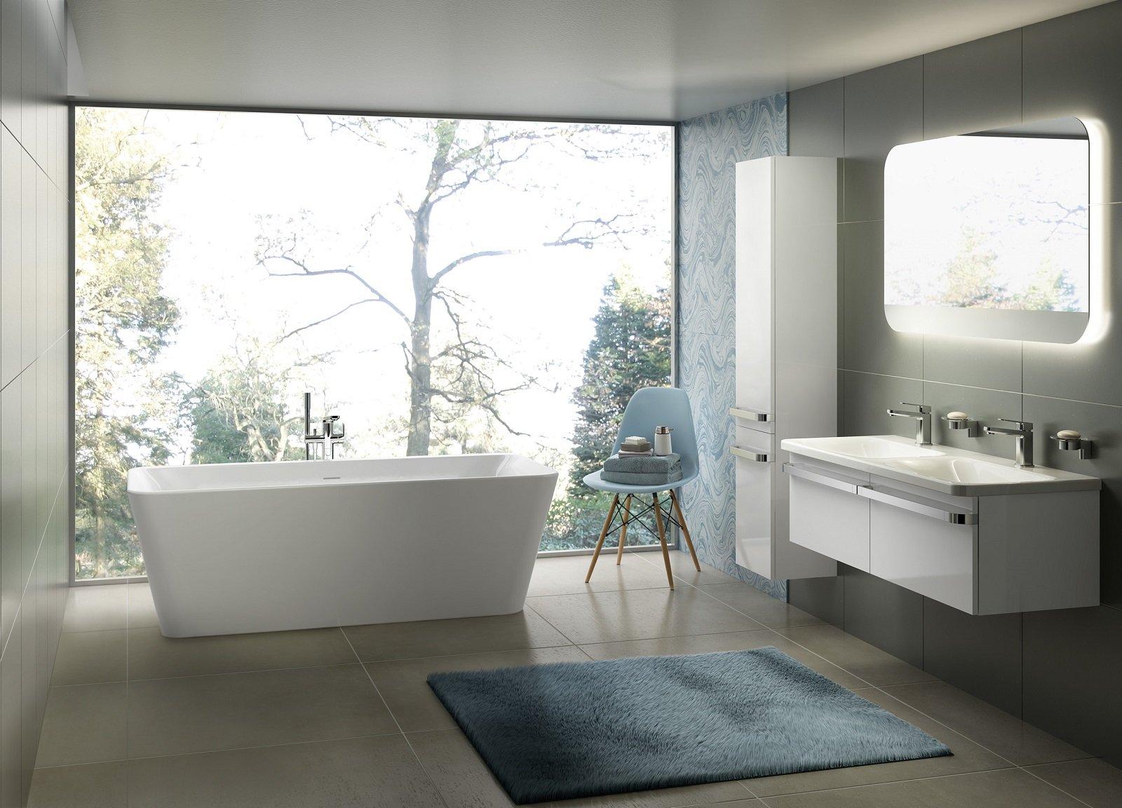 Vasche a libera installazione protagoniste del bagno - Vasca da bagno libera installazione ...