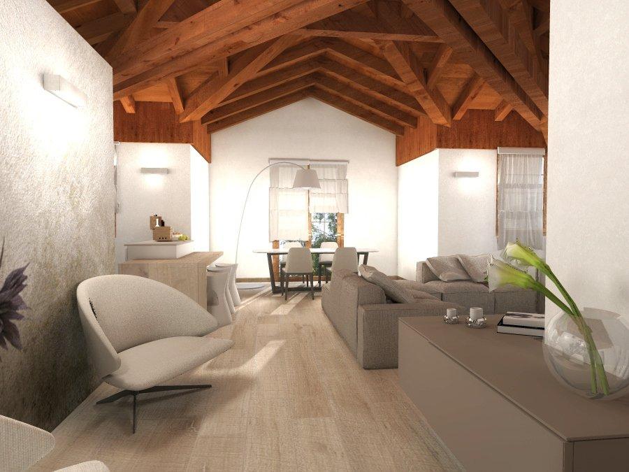 Progetto per la mansarda in 3D con orditura del tetto articolata e ...