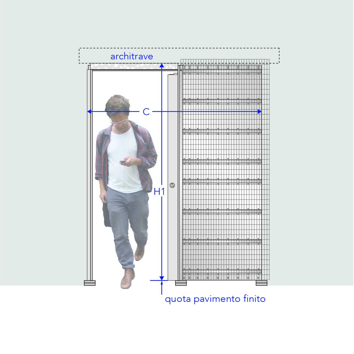 Come Montare Un Controtelaio la porta scorrevole è salvaspazio ma quanto spazio le