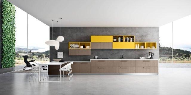 Cucina effetto legno: la bellezza dell'essenza con i vantaggi economici dei materiali che la imitano