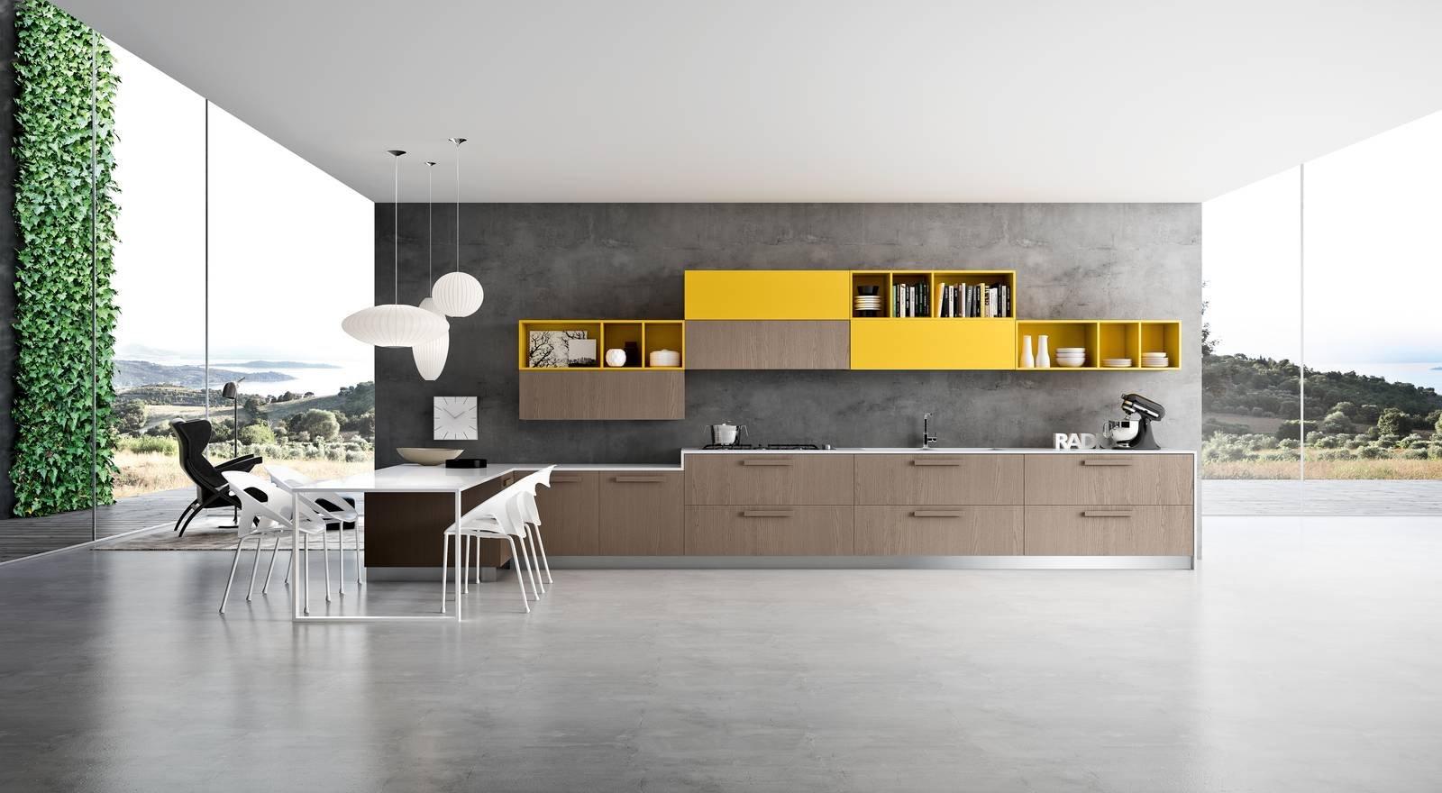 Cucina effetto legno la bellezza dell 39 essenza con i for Arredamento immagini