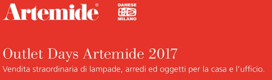 artemide outlet days 2017 cose di casa