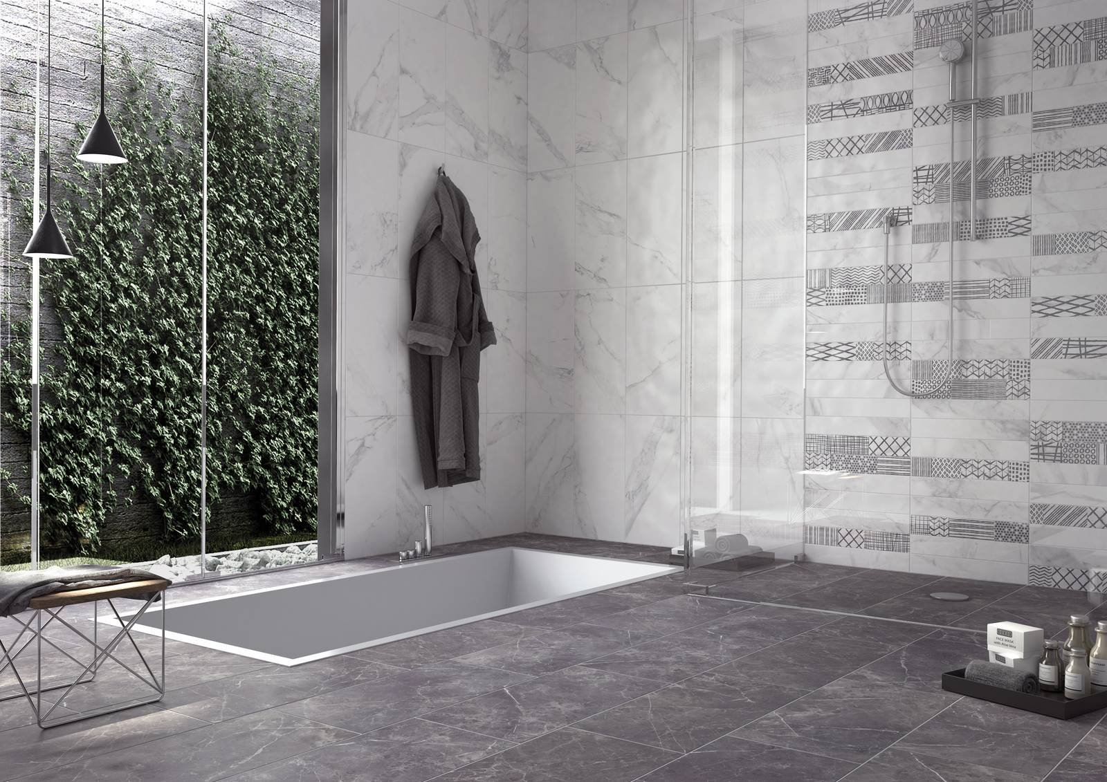 Ceramica rondine collezione fori romani colori statuario e grigio imperiale bagno cose - Bagno imperiale ...