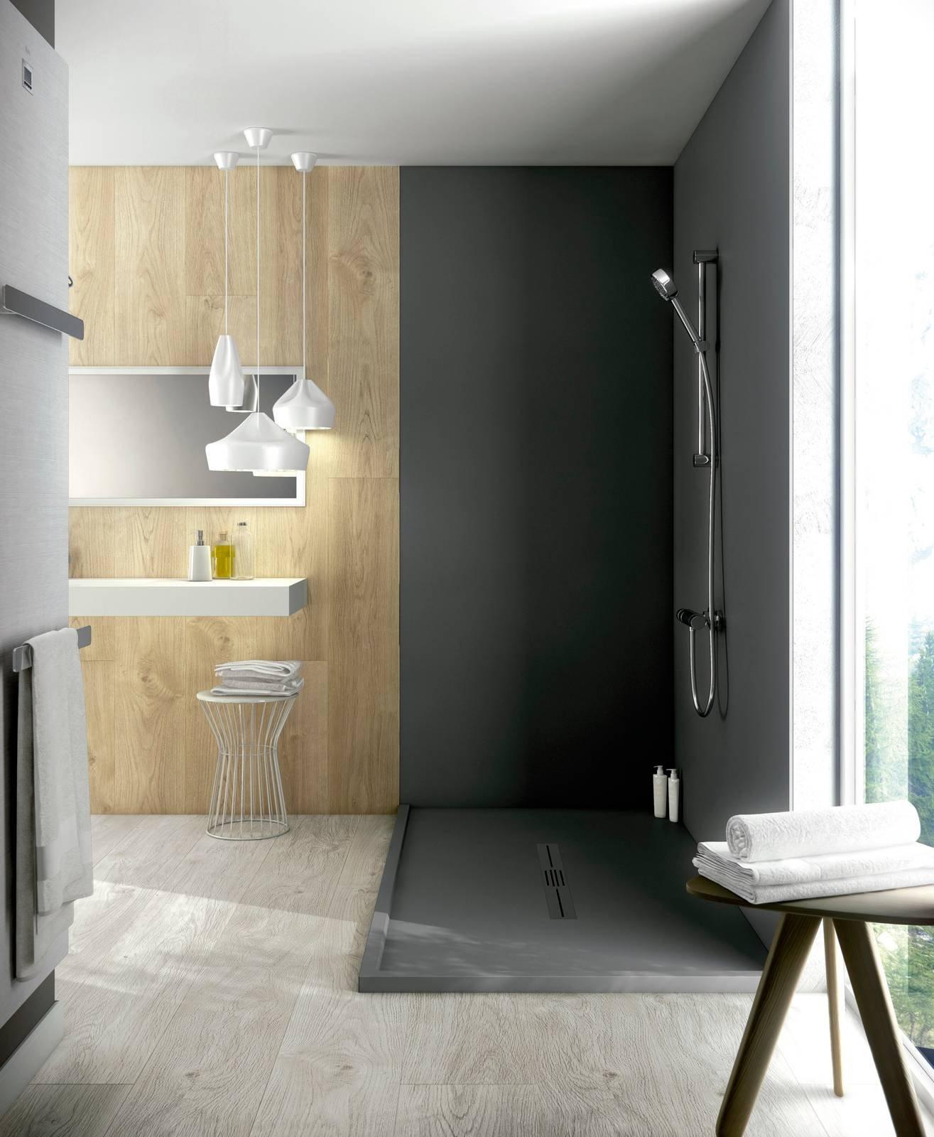 Piatto doccia e pannelli decor da mettere anche sulle vecchie piastrelle cose di casa - Mettere piastrelle bagno ...