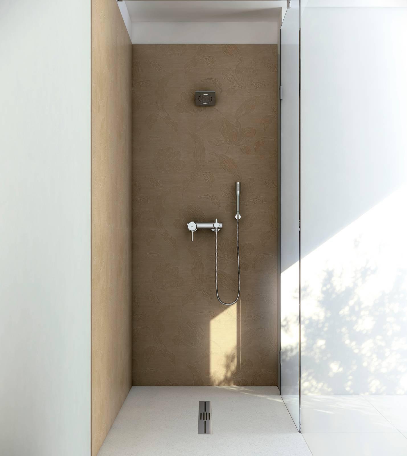 piatto doccia e pannelli decor da mettere anche sulle. Black Bedroom Furniture Sets. Home Design Ideas