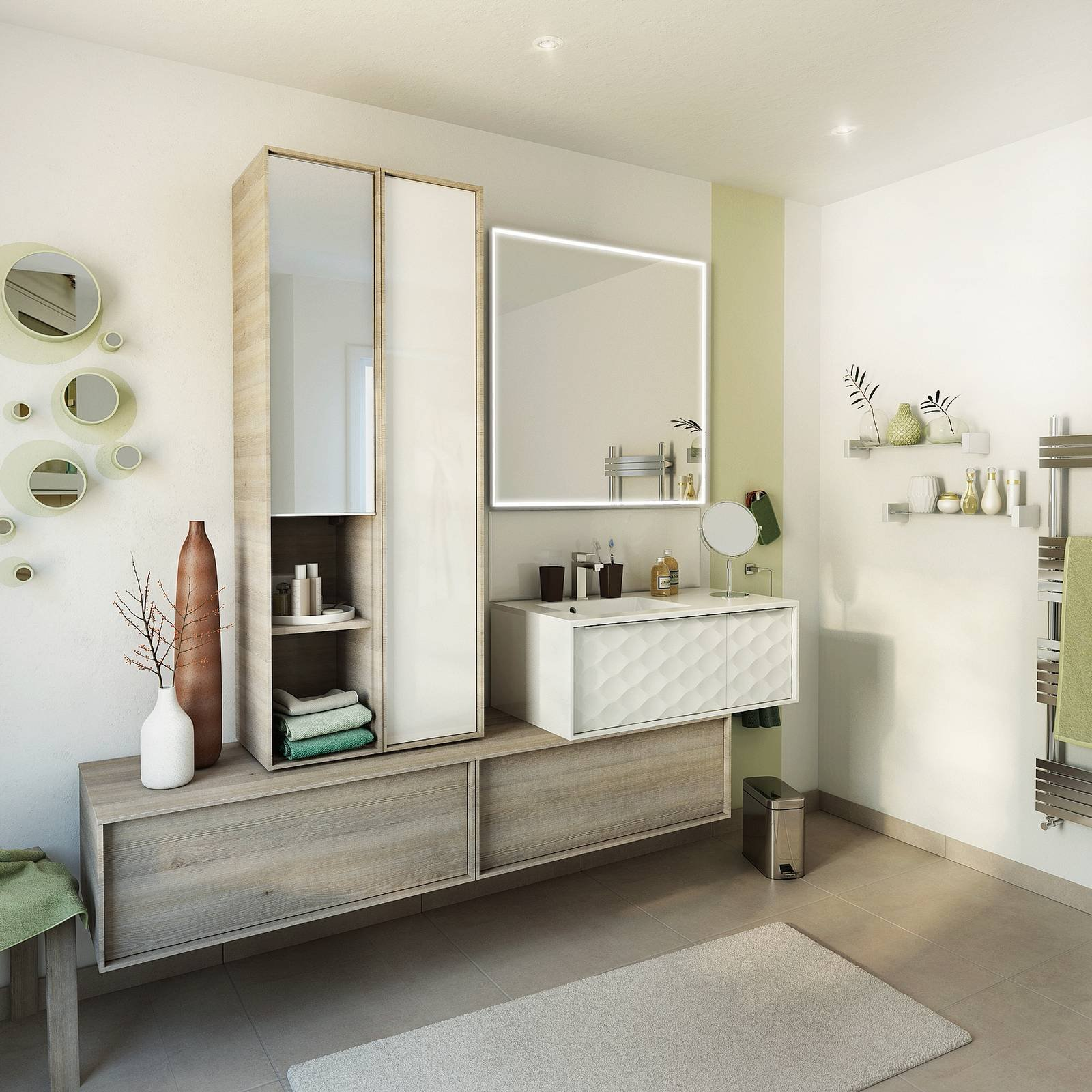Mobile bagno pi di 500 idee per rinnovare l 39 ambiente - Idee specchi per bagno ...