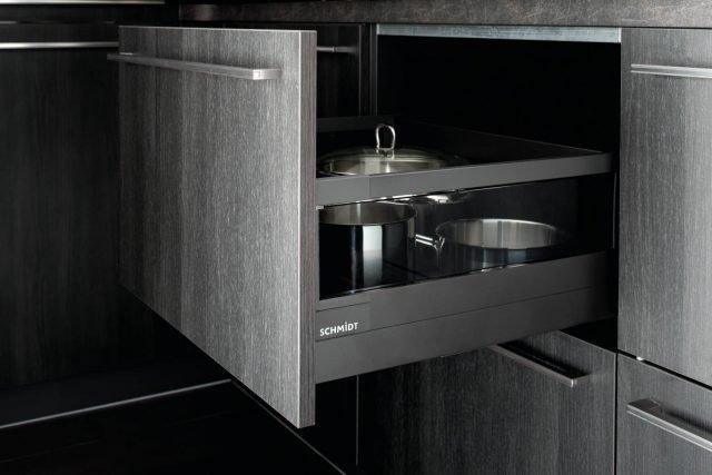 Cassetto Onix colore Caneo – sponde vetro fumè colore Parsol Grey