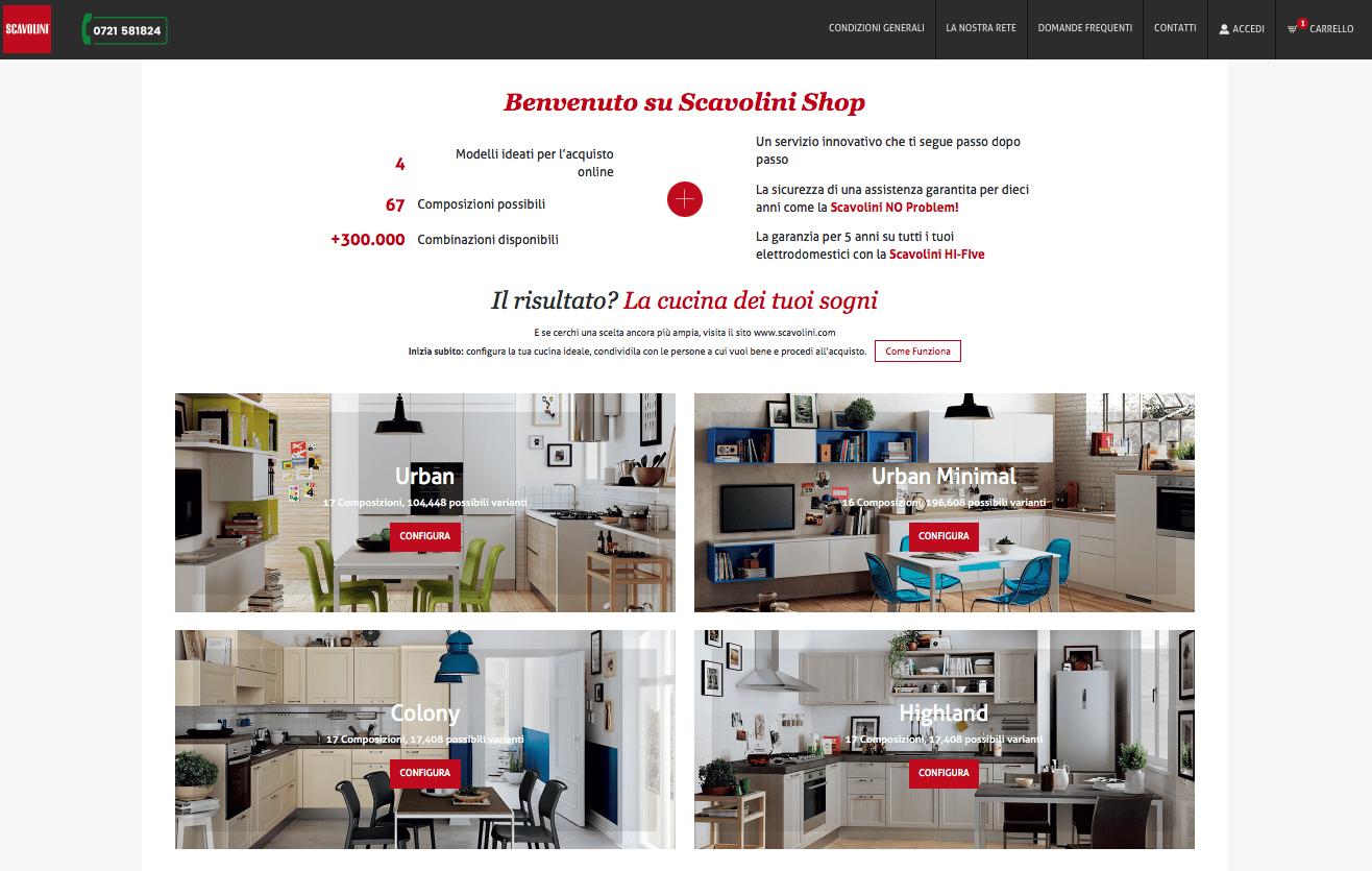 Scavolini shop ora la cucina puoi comprarla anche online for Cucina shop