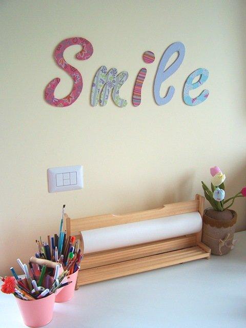 Scritte decorative a parete come realizzarle per decorare - Scritte sulle pareti di casa ...