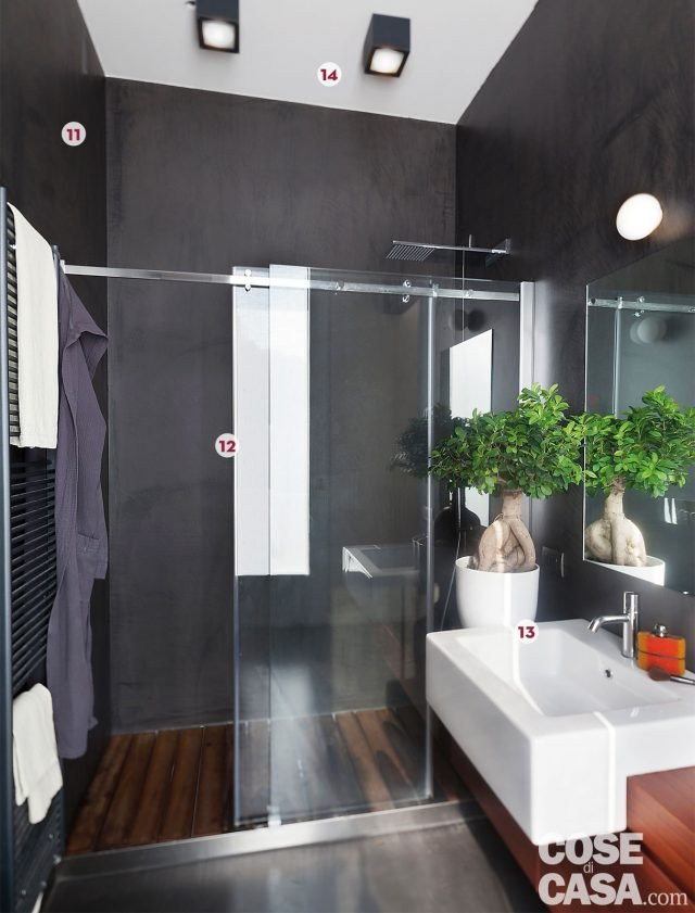 Una casa con il soggiorno open space che diventa pi grande e un bagno che si splitta in tre - Termoarredo per bagno 6 mq ...