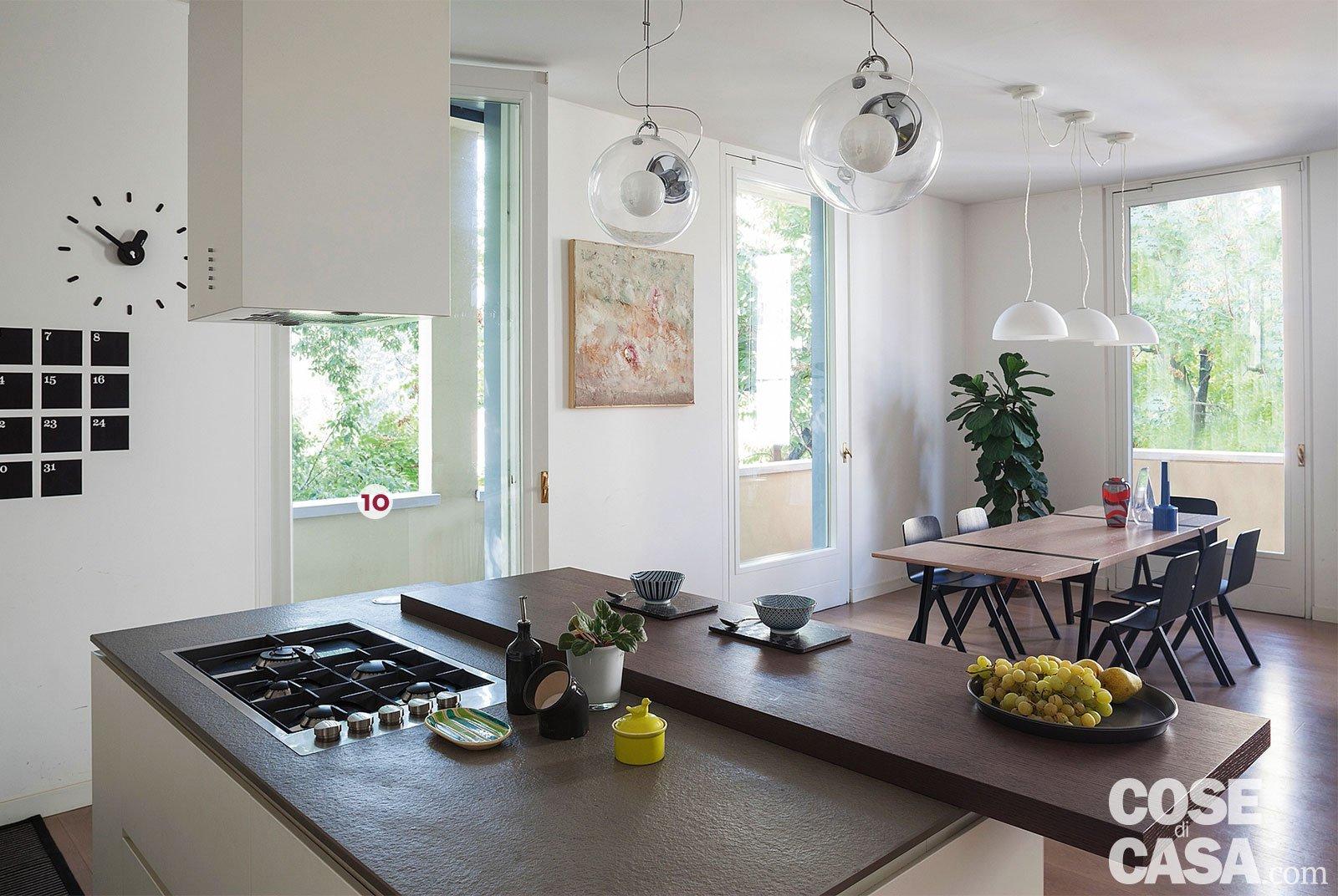 Una Casa Con Il Soggiorno Open Space Che Diventa Più Grande E Un