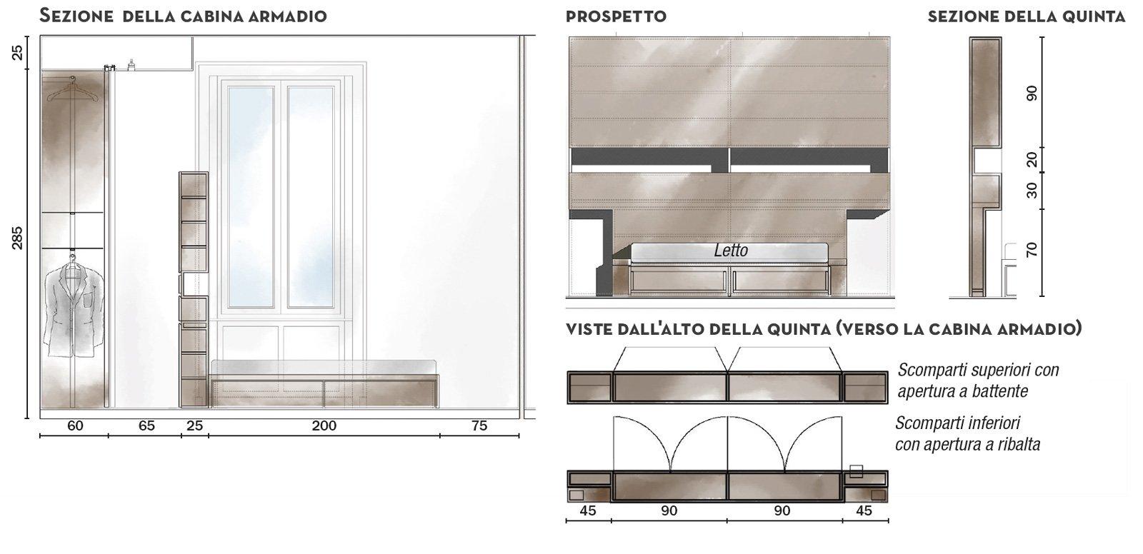 110 mq con una parete in vetro per dividere soggiorno e for Planimetrie della cabina di log con soppalco