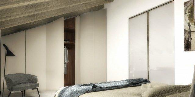 Sfruttare lo spazio quando il soffitto è spiovente